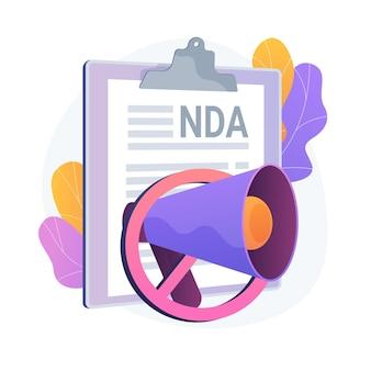 Geheimhoudingsovereenkomst. vertrouwelijke openbaarmakingsovereenkomst. bedrijfseigen informatie, wettelijk contract, officieel document. handelsgeheimen.