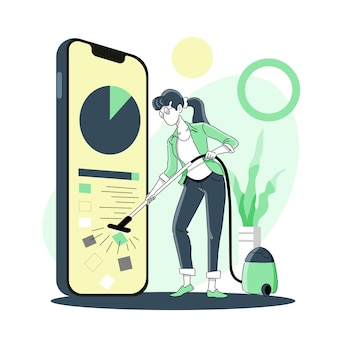 Geheugen of opslag van mobiele telefoons opschonen