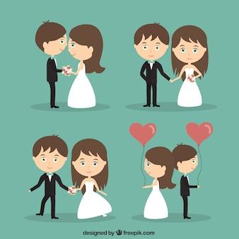 Gehuwd enkel gelukkig paar