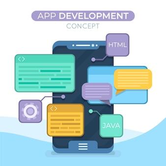 Geïllustreerd app-ontwikkelingsconcept