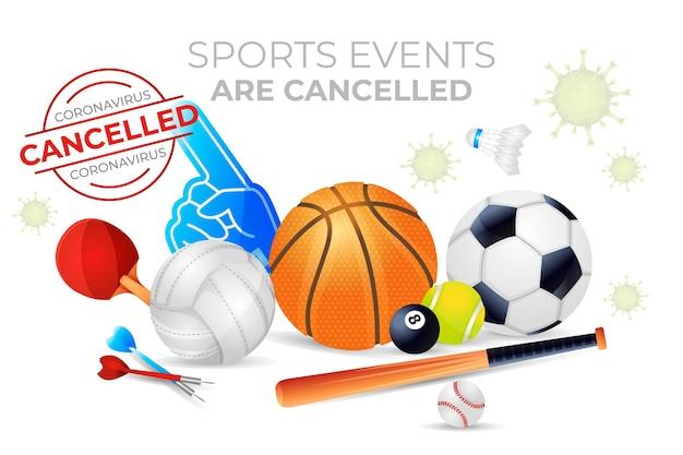 Geïllustreerd geannuleerd sportevenement