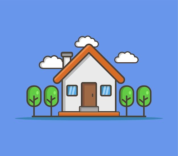 Geïllustreerd huis