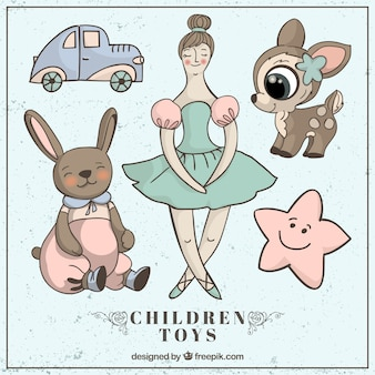 Geïllustreerd mooie speelgoed