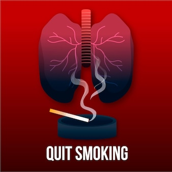 Geïllustreerd stoppen met roken concept
