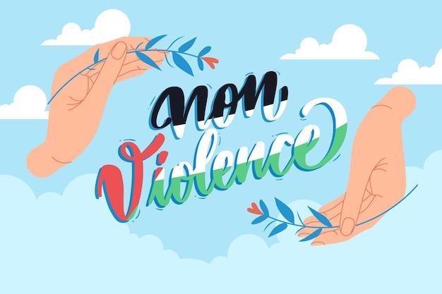 Geïllustreerde achtergrond van geweldloosheid