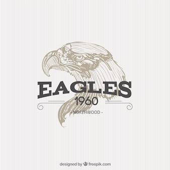 Geïllustreerde adelaar badge