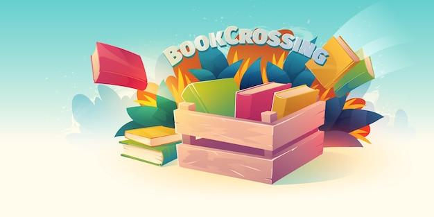 Geïllustreerde boekenbeursachtergrond