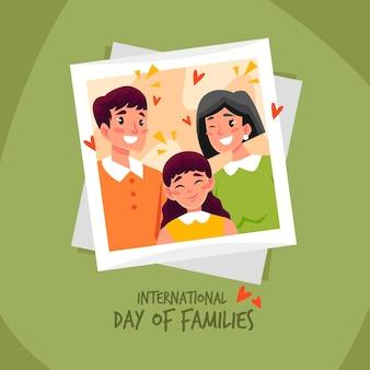 Geïllustreerde internationale dag van gezinnen