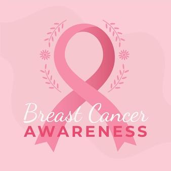 Geïllustreerde maand voor de voorlichting van borstkanker