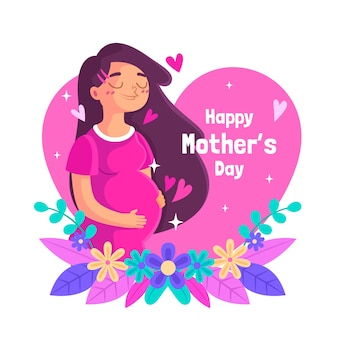 Geïllustreerde moederdag evenement