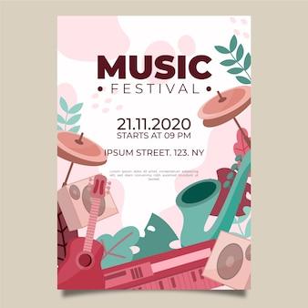 Geïllustreerde muziekposter