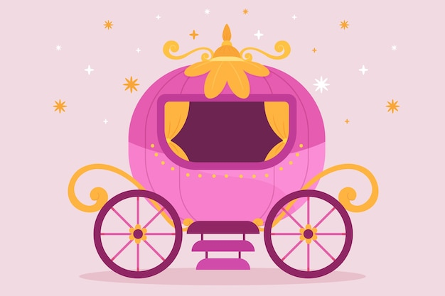 Geïllustreerde sprookjeswagen