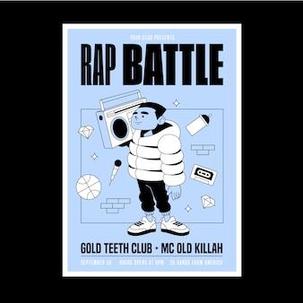 Geïllustreerde stijl muziek poster