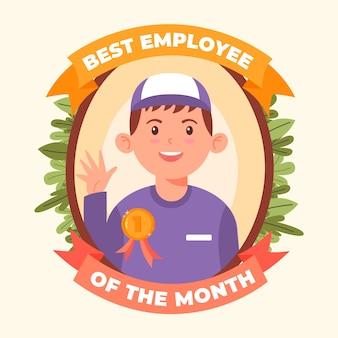Geïllustreerde werknemer van het maandconcept