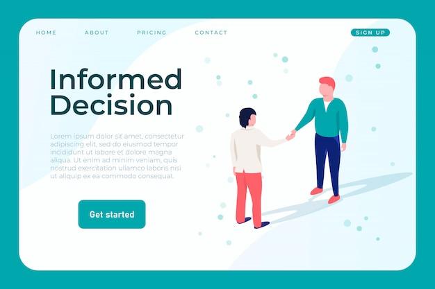 Geïnformeerde beslissing websjabloon