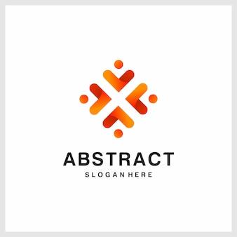 Geïnspireerd abstract logo-ontwerp, oranje, modern, premium