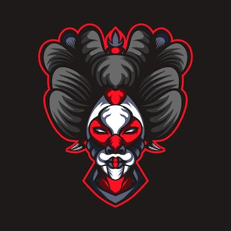 Geisha hoofdmasker artwork