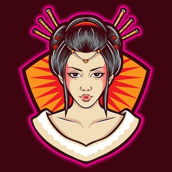 Geisha vector-logo