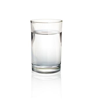 Geïsoleerd glas water