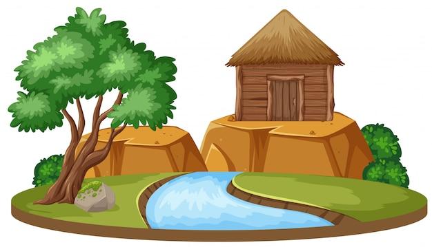 Geïsoleerd huis in de natuur