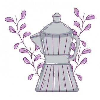 Geïsoleerd koffiezetapparaat