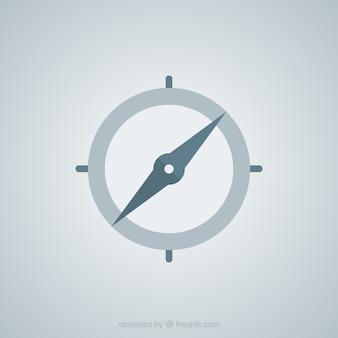 Geïsoleerd plat kompas
