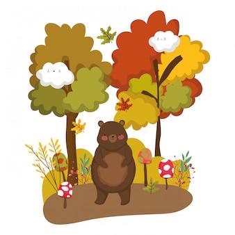 Geïsoleerde beer cartoon vector ontwerp