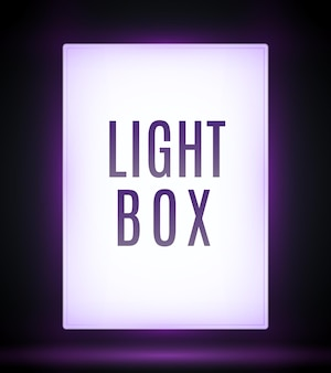 Geïsoleerde billboard lightbox staan buiten adverteren lichtbord. citylight lightbox mockup teken gloeiende doos.