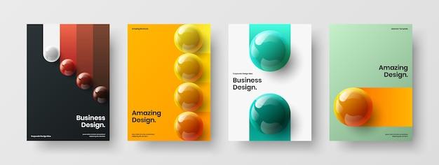 Geïsoleerde boekomslag a4 ontwerp vector lay-out set