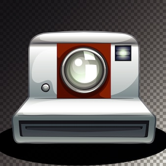 Geïsoleerde camera op transparant