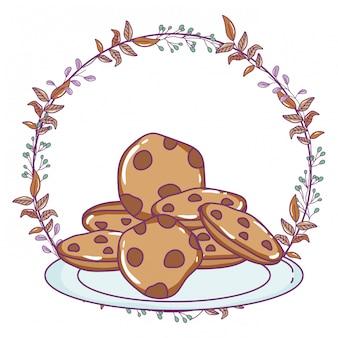 Geïsoleerde cookie illustratie