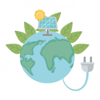 Geïsoleerde eco zonnepaneel ontwerp