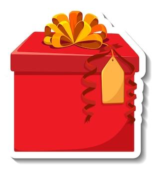 Geïsoleerde geschenkdoos sticker