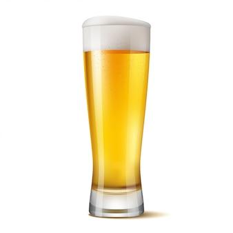 Geïsoleerde glas bier