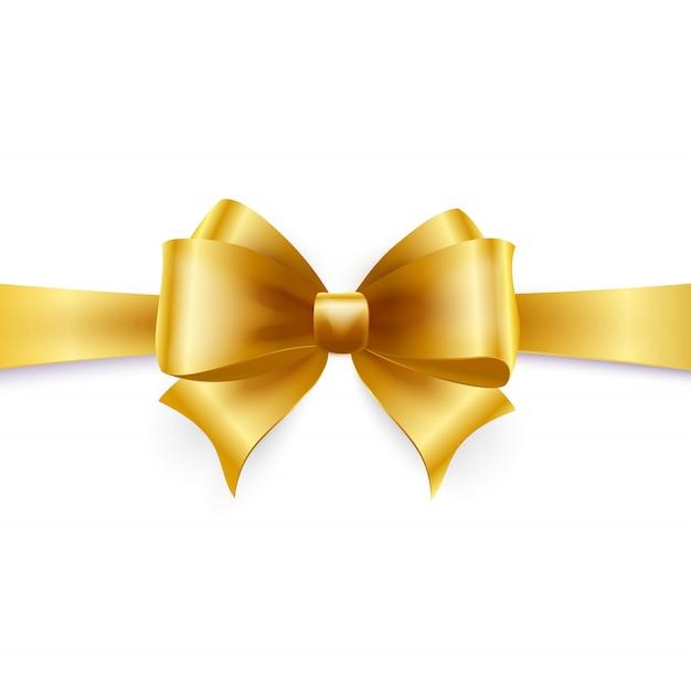 Geïsoleerde gouden boog. vector illustratie