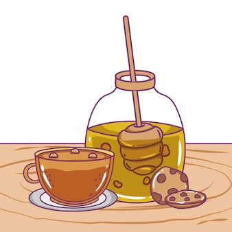 Geïsoleerde honingpot