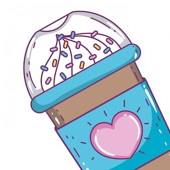 Geïsoleerde ijs koffiemok