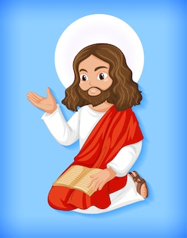 Geïsoleerde jezus-karakter
