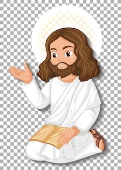 Geïsoleerde jezus stripfiguur