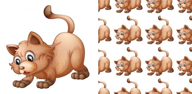 Geïsoleerde kat patroon cartoon