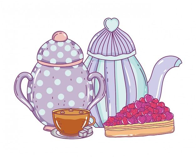Geïsoleerde kom en koffiepot