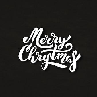 Geïsoleerde letters voor merry christmas voor decoratie en bekleding op de krijtachtergrond