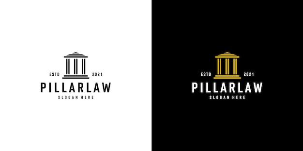 Geïsoleerde pijler kolom logo