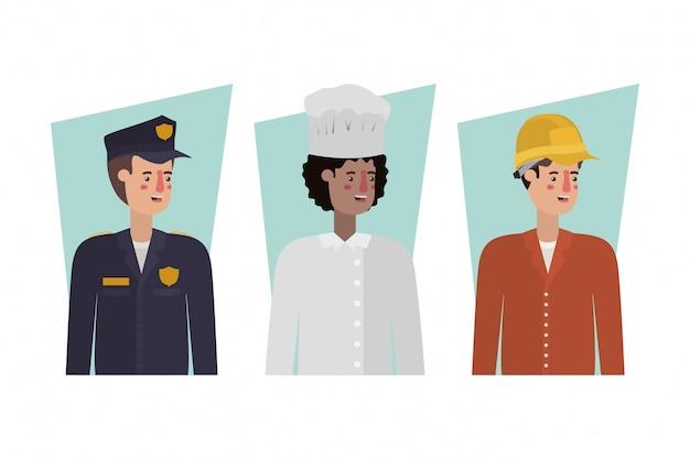 Geïsoleerde politieagentchef-kok en bouwer