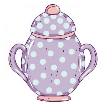 Geïsoleerde porseleinen suikerpot