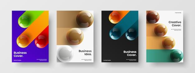 Geïsoleerde realistische bollen banner concept collectie