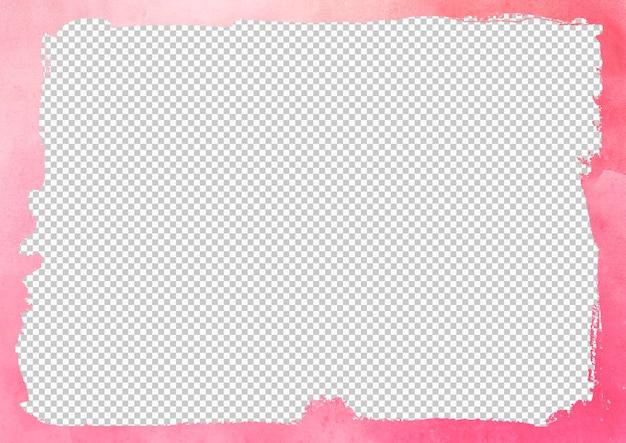 Geïsoleerde roze verf penseelstreken frame