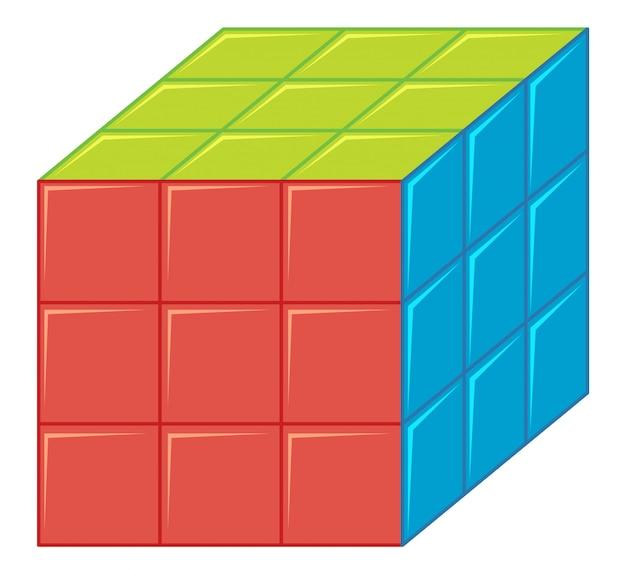 Geïsoleerde rubics-kubus