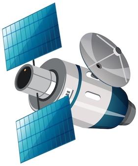 Geïsoleerde satelliet op wit