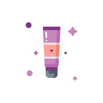 Geïsoleerde schattige make-up prime icon set collectie